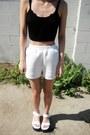 White-romwe-shorts-white-sawyer-platform-everland-clothing-sandals