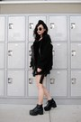 Black-punk-style-rosewholesale-boots-black-oasap-coat-black-oasap-hat
