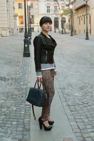 Zara shoes - Zara jacket - H&M sweater - Parfois bag - Zara pants - H&M earrings