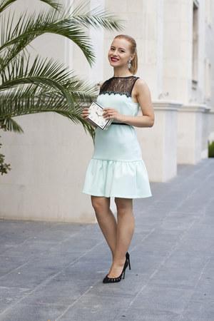 light blue asos dress - black Zara heels