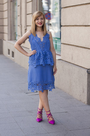 blue sammydress dress - hot pink Zara shoes