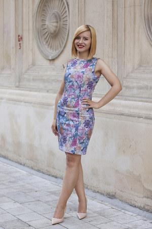 nude Zara shoes - amethyst H&M dress