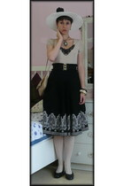 black Gate belt - eggshell on sale Orsay dress - white really cheap Stoklasa hat