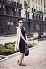 Black-hybrid-dress-beige-my-pet-square-cape-tan-asos-heels