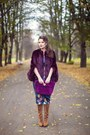Bronze-bershka-boots-teal-asos-dress-deep-purple-asos-coat