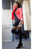coral H&M blazer - black H&M dress