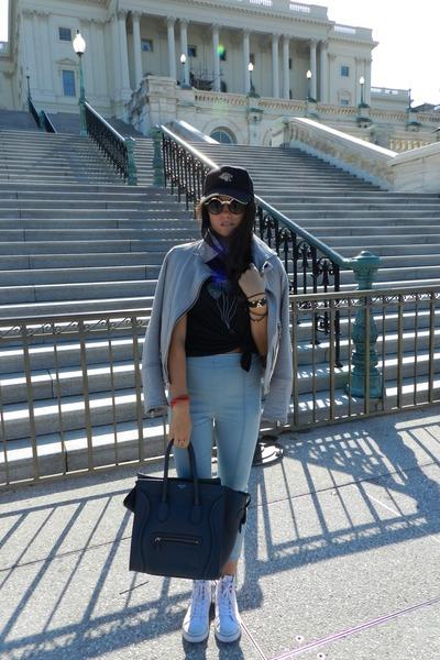 Celine bag - Chaser Brand jacket - Shop Identify bracelet