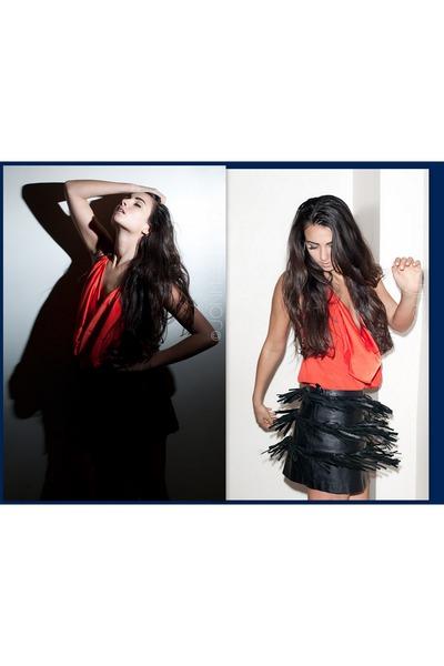 fringe Alessa skirt - silk Alessa shirt