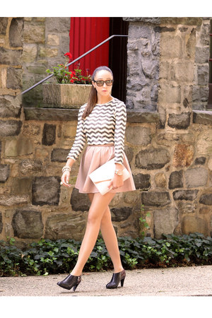 light pink H&M skirt - black See by Chloe shoes