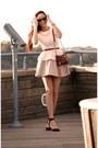 White-peplum-zara-shirt-maroon-3zip-rocker-rebecca-minkoff-bag