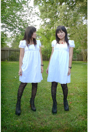 black lita Jeffrey Campbell boots - gifted by Squeezy Peter dress - Charlotte Ru