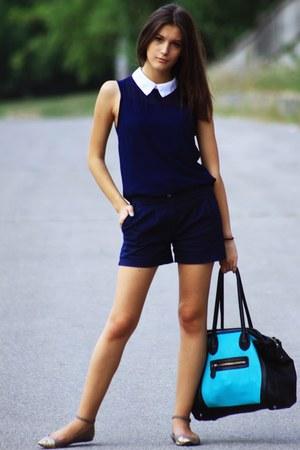 Boohoo shirt - odji shorts - Stradivarius flats