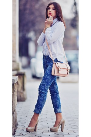 Aldo shoes - Zara shirt - River Island bag