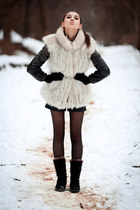 Red Lure jacket - Forever21 boots - leather jennyfer shorts