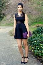 Tobi dress - Mimi Boutique bag - Forever 21 necklace - Zara heels