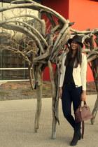 Joppa Boutique hat - H&M blazer - Joppa Boutique shirt - lulus bag