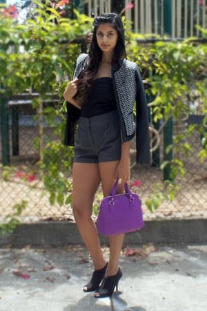 H&M shorts - Target jacket - Target purse - H&M top