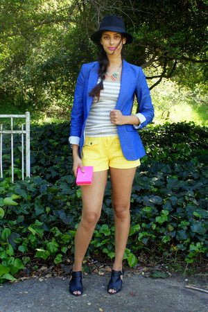 Payless shoes - Joppa Boutique hat - H&M blazer - Lola Boutique shorts