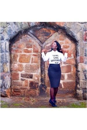 Topshop t-shirt - H&M skirt