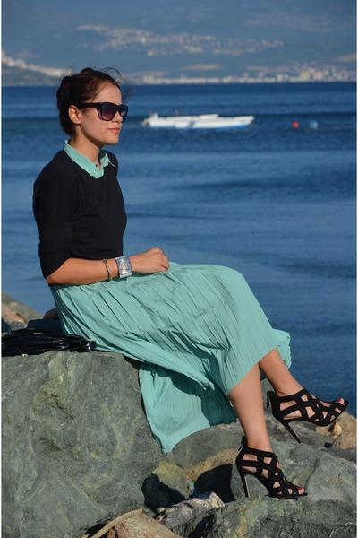 Zara top - Mudo dress - vintage bag - Zara heels