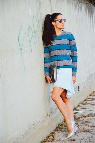 pull&bear dress - LC Waikiki sweater - Koton bag - c&a heels