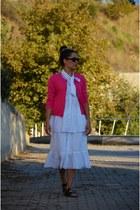 vintage shirt - Zara skirt - Zara cardigan - Birkenstock sandals