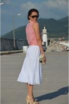 lcwaikiki shirt - Accessorize bag - Nine West heels - Zara skirt