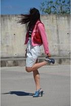 lcwaikiki jacket - Mango bag - Mango top - vintage heels - ROMAN skirt