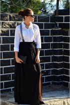 lcwaikiki shirt - Batik skirt - Koton heels - vintage accessories