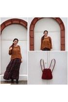 vintage bag - Deichmann boots - Polo Garage dress - Zara sweater