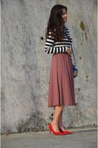 asos skirt - Zara shoes - vintage bag - Zara top