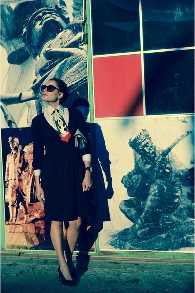 Koton dress - vintage shirt - Koton bag - Koton heels