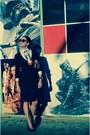 Koton-dress-vintage-shirt-koton-bag-koton-heels