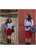 Deichmann boots - Zara sweater - Mudo shirt - ROMAN skirt
