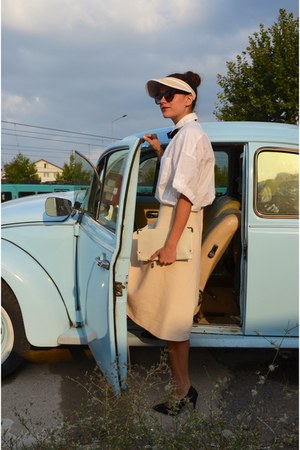 vintage skirt - Mango shirt - Koton heels - asos accessories