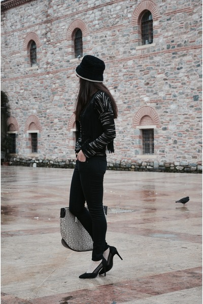 Mango jeans - Batik shirt - calvin klein bag - Mango vest - Koton heels