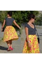 asos skirt - vintage bag - Zara top - Zara heels
