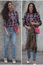 Zara jeans - hotic shoes - Mango coat - Zara shirt - Zara bag - İpekyol necklace