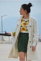 romwe sweatshirt - Mango jacket - Bershka bag - vintage heels - Koton skirt