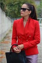 Mango blazer - vintage bag - Zara heels - asos pants