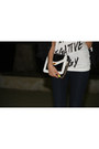 White-happiness10-t-shirt-navy-jennifer-jeans-black-izzue-blazer