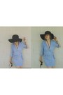 Wrap-dress-voyage-clothing-dress-bardot-hat-gladys-tamez-hat