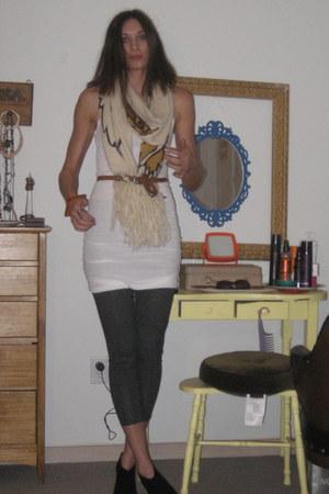 BCBG top - H&M scarf - sam edelman boots - Urban Outfitters pants - Steve Madden