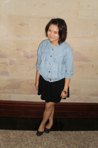 blue random from Bangkok jacket - CPS Chaps dress - gray random accessories - Cr