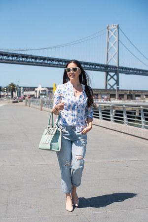boyfriend jeans jeans - H&M blouse