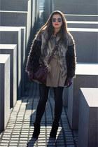 Zara coat - pull&bear jeans - Urban Outfitters bag - asos sunglasses