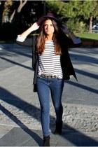 Zara boots - Zara jeans - Zara hat - Zara blazer - H&M t-shirt - Zara belt