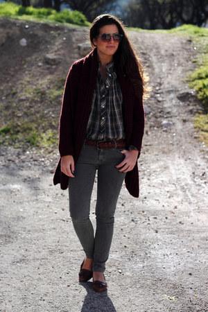 Zara shirt - Zara cardigan - Zara pants