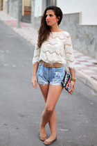 Zara shirt - Zara bag - Levis shorts - pull&bear flats - Massimo Dutti belt