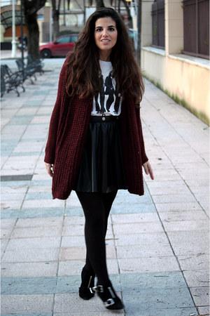 Zara cardigan - Bimba&Lola boots - H&M skirt - H&M t-shirt